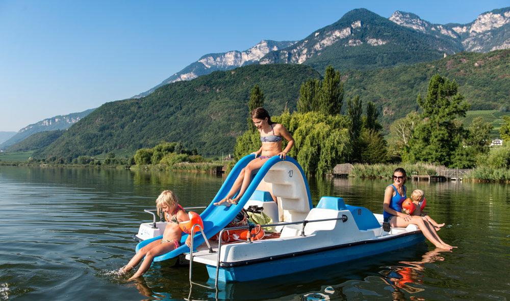 Der Kalterer See - Der wärmste Badesee in den Alpen in nächster Nähe Ihrer Unterkunft